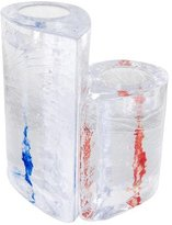Kosta Boda Two Sweet Hearts Candle Votives