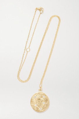 Brooke Gregson Pisces 14-karat Gold Diamond Necklace