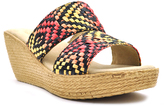 Sbicca Red Geometric Pomelo Wedge Sandal