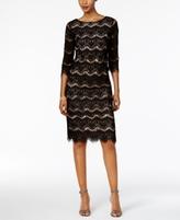 Jessica Howard Petite Lace Illusion Sheath Dress