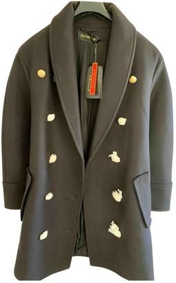 Balmain For H&m Black Wool Coat for Women