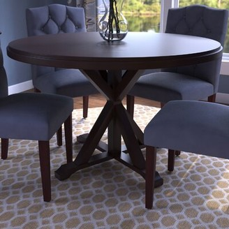 Fanning X Base Dining Table Alcott Hill Color: Antique Black