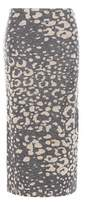 By Malene Birger Opunia printed knitted wool-blend skirt