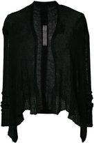 Rick Owens asymmetric cardigan - women - Polyamide/Alpaca - S