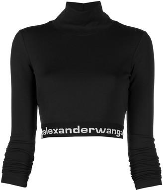 alexanderwang.t Logo-Band Crop Top