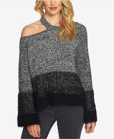 1 STATE 1.STATE Cold-Shoulder Colorblocked Sweater