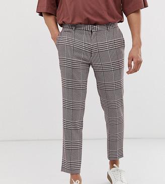 Noak skinny dogstooth trouser in pink