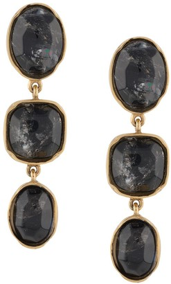 Goossens Three Cabochons clip earrings