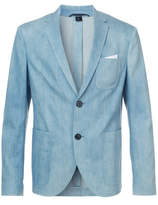 Neil Barrett Denim Effect Blazer - Blue - Size EU54