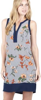 M&Co Izabel floral grid shift dress