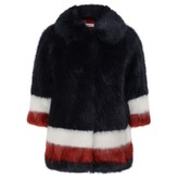 MonnaLisa MonnalisaNavy & Red Faux Fur Coat