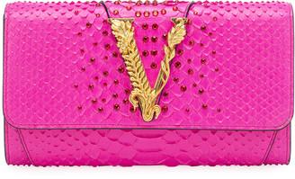 Versace Virtus Python Crossbody Clutch Bag