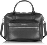 Armani Jeans Black Eco Leather Men's Briefcase