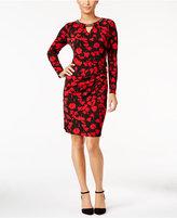 Thalia Sodi Printed Faux-Wrap Sheath Dress, Only at Macy's