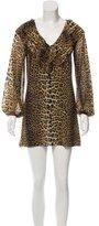 Jean Paul Gaultier Mesh Leopard Print Dress