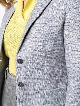 Circolo 1901 Chevron-Knit Single-Breasted Blazer