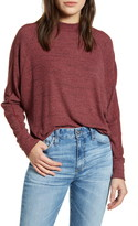 Treasure & Bond Space Dye Long Sleeve Mock Neck Sweater