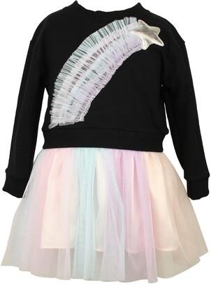Popatu Rainbow Star Tulle Dress
