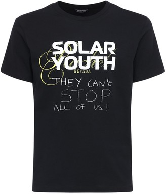 Raf Simons Solar Youth Print Cotton T-Shirt