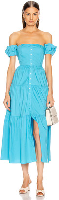 STAUD Elio Dress in Bright Blue | FWRD