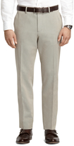 Brooks Brothers Plain-Front Grey Heather Dress Chinos