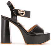 Love Moschino heart buckle sandals