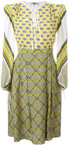 MSGM multi-print flared dress - women - Silk - 38
