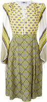 MSGM multi-print flared dress - women - Silk - 38