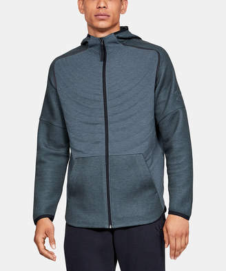 Under Armour Men's Sweatshirts and Hoodies Wire - Wire Full Heather Unstoppable Move Light Radial Full-Zip Hoodie - Boys & Men