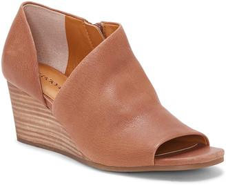 Lucky Brand Women's Casual boots MACAROON/210 - Macaroon Tylera Leather Peep-Toe Bootie - Women