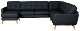 John Lewis Barbican Semi-Aniline Corner End Sofa with LHF Chaise Unit