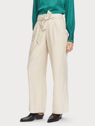 Scotch & Soda Wide Leg Pinstripe Trousers | Women