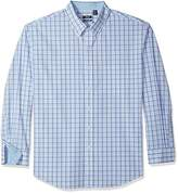 Izod Mens Big and Tall Essential Tattersall Long Sleeve Shirt Long Sleeve Button-Down Shirt