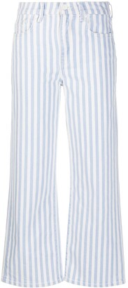 7 For All Mankind Alexa striped-print jeans