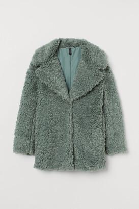 H&M Long Faux Fur Jacket