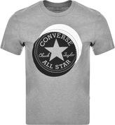 Converse Off Set Logo T Shirt Grey