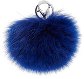 Adrienne Landau Fur Pom-Pom Key Chain-BLUE