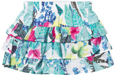 Catimini Mint Jungle Floral Print Ruffle Skirt