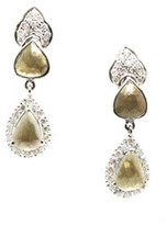 Tresor Collection - Organic Color Diamond & White Diamond Earring in White Gold