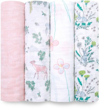Aden Anais White Label Forest Fantasy 4-Pack Swaddling Cloths