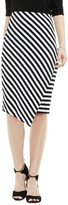 Vince Camuto Women's Havana Stripe Faux Wrap Tube Skirt
