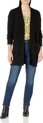 Tribal Women's Sweater Cardigan-Black M