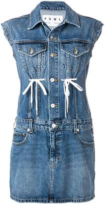 Proenza Schouler tie detail denim dress