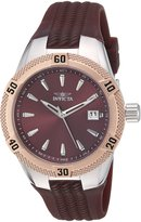 Invicta Men's 'Angel' Quartz Stainless Steel and Silicone Casual Watch, Color: (Model: 24600)