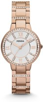 Fossil Women's ES3284 Virginia Analog Display Quartz Rose Gold Watch