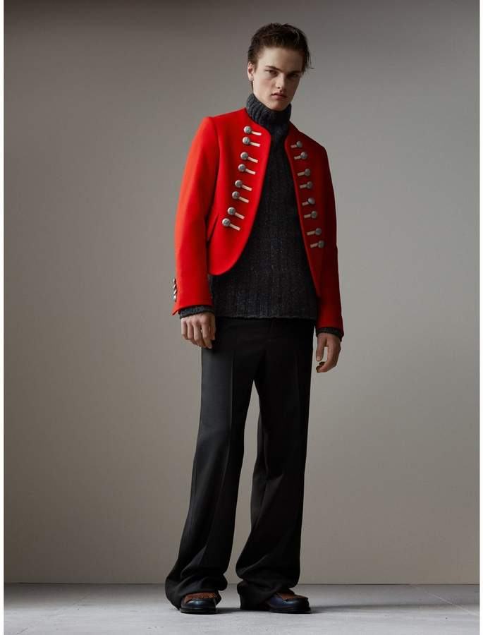 Burberry Wool Cropped Ceremonial Jacket