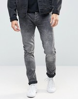 ONLY & SONS Washed Gray Skinny Fit Jeans with Stretch