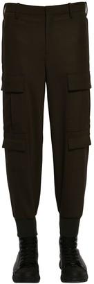 Neil Barrett Wool Blend Gabardine Cargo Pants