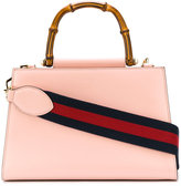Gucci Nymphaea GG Web tote bag - women - Cotton/Leather - One Size