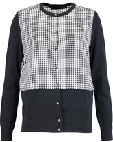 Marc by Marc Jacobs Stretch Knit-Paneled Gingham Voile Cardigan
